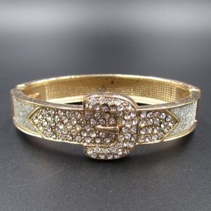 Jewelry - Vintage Cute Crystal Belt Buckle Bracelet